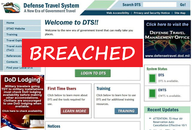 pentagon s defense travel system breached securely travel
